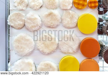 Various High Density Soft And Fine Wool Or Felt Polishing Disc Wheel Pad And Sponge For Buffing Waxi
