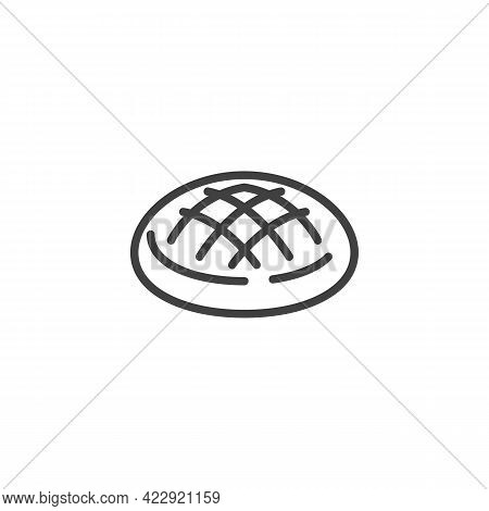 Apple Pie Line Icon. Linear Style Sign For Mobile Concept And Web Design. Baked Pie Bread Outline Ve