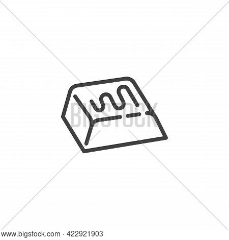 Chocolate Bar Piece Line Icon. Linear Style Sign For Mobile Concept And Web Design. Piece Of Chocola