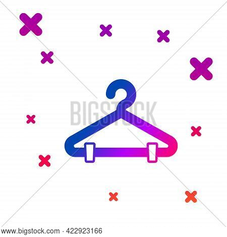 Color Hanger Wardrobe Icon Isolated On White Background. Cloakroom Icon. Clothes Service Symbol. Lau