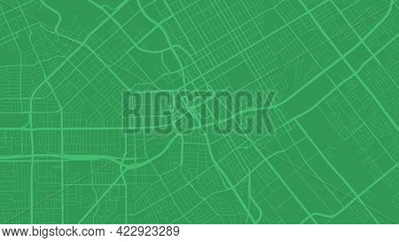 Green San Jose City Area Vector Background Map, Streets And Water Cartography Illustration. Widescre