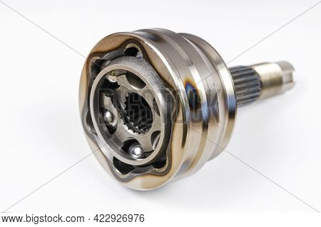 Drive Shaft Joint On White Background. New Constant Velocity Joints. Constant Velocity Joints Provid