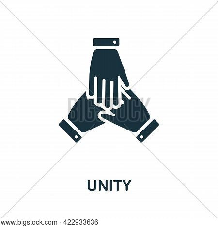 Unity Icon. Monochrome Simple Element From Civil Rights Collection. Creative Unity Icon For Web Desi
