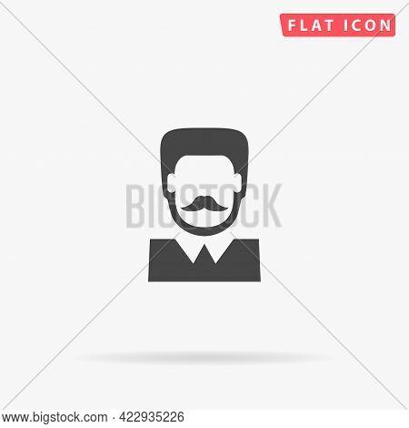 Man Avatar Flat Vector Icon. Hand Drawn Style Design Illustrations.