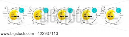 Timeline Infographic Diagram With Numbers. Quote Mark Speech Bubble Banners. Quotation Dialog Messag