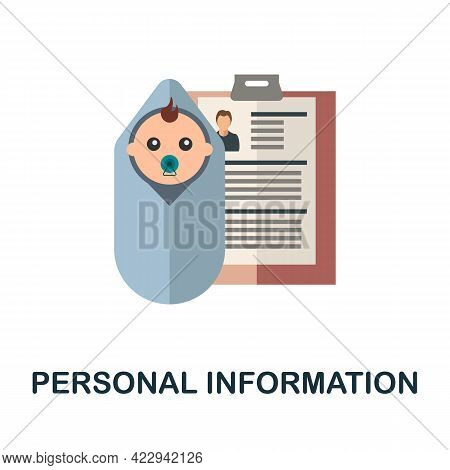 Personal Information Icon. Flat Sign Element From Child Adoption Collection. Creative Personal Infor