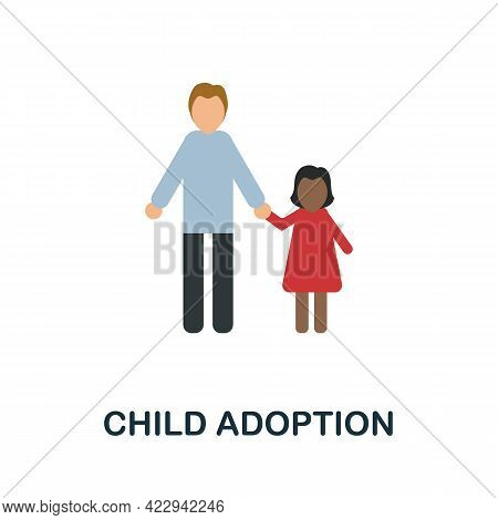 Divorce Icon. Flat Sign Element From Child Adoption Collection. Creative Divorce Icon For Web Design