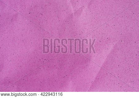 Pink Color Crumpled Recycle Paper Background, Pink Crumpled Paper Texture As Background Concept Of R