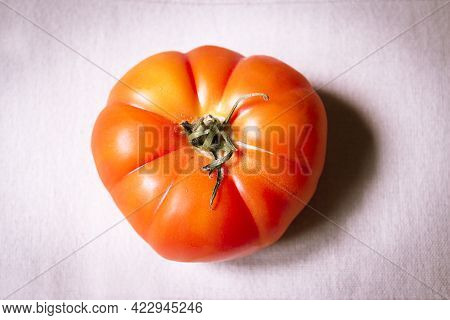 Uncooked Raw Red Tomato. Raw Food. No People