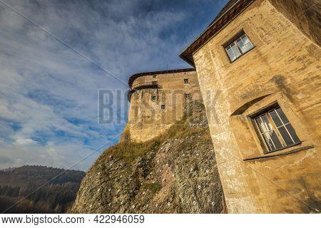 The Medieval Orava Castle In Slovakia, Europe.
