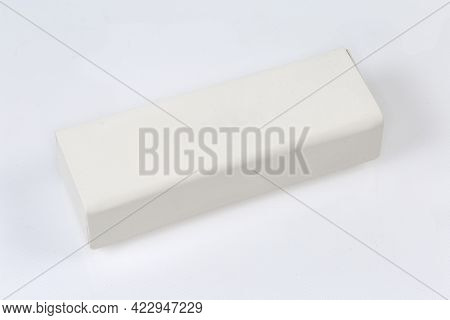 Modern Closed White Rectangular Hard Spectacle-case With Magnet Closure On A White Surface