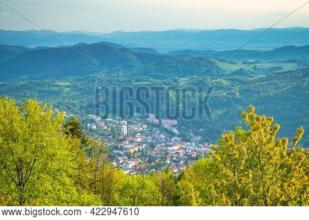 View From Above Of Kremnica, Important Medieval Mining Town With The Oldest Still-working Mint In Th