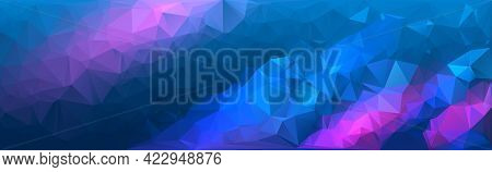 Polygonal Multicolor Mosaic Background. Colorful Triangular Banner Template.