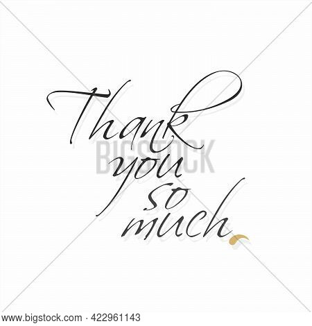 Beautiful Calligraphy Of Thank You So Much | Thank You So Much Card | Illustration