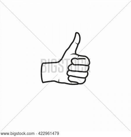 Thumbs Up Symbol | Thumbs Up Icon | Thumbs Up Line Drawing