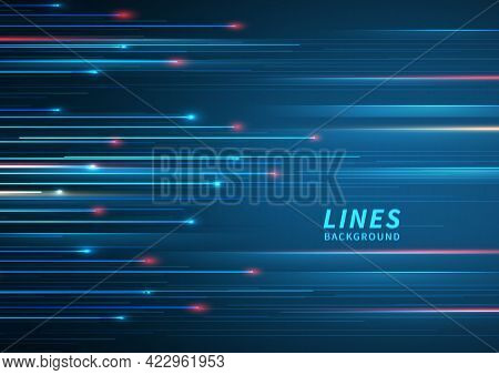 Abstract Technology Geometric Overlapping Hi Speed Line Movement Design Background With Copy Space F