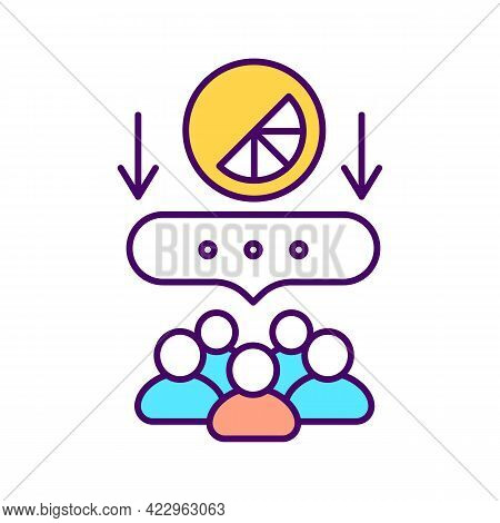 Customer Feedback Rgb Color Icon. Identifying Customer Attitudes. Isolated Vector Illustration. Bran