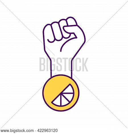 Brand Engagement With Social Movements Rgb Color Icon. Isolated Vector Illustration. Mission Stateme