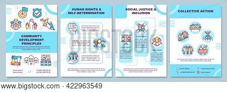 Community Development Principles Brochure Template. Flyer, Booklet, Leaflet Print, Cover Design With
