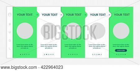 Sustainability-minded Onboarding Vector Template. Eco-friendly Retail. Responsive Mobile Website Wit