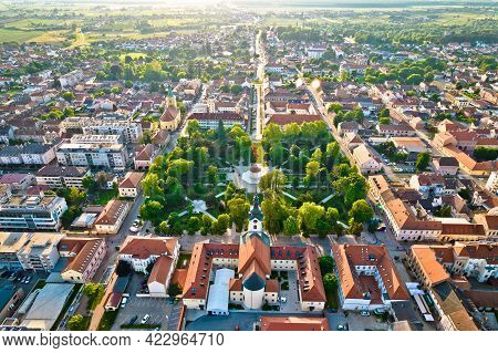 Town Of Bjelovar Aerial View, Bilogora Region Of Northern Croatia