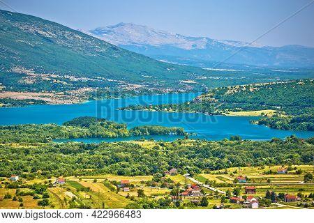 Peruca Lake Near Vrlika In Dalmatian Zagora Region Of Croatia