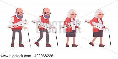 Old Teacher, Female, Male Senior Professor, University, School, College Tutor. Experienced Elderly M