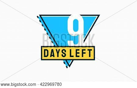 Modern Flat Designs Countdown Left Days Banner, Number Of Days Left Badge For Promotion, Countdown S