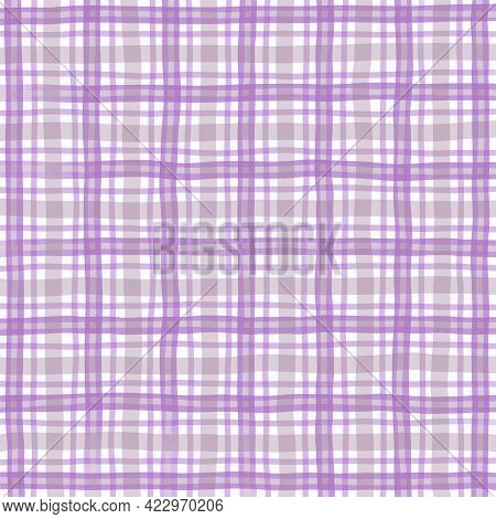 Purple Gray Lilac Vintage Checkered Background. Space For Graphic Design. Checkered Texture. Classic