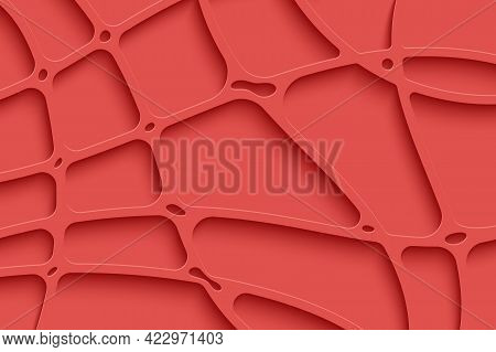 Abstract 3d Paper Stripes Background In Papercut Style