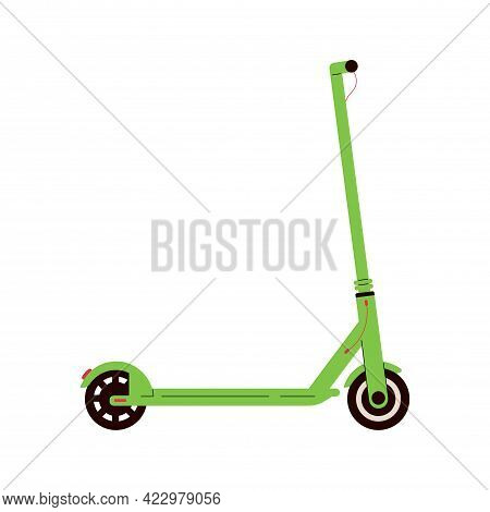 Electric Scooter Icon. Modern Eco Urban Transport. Flat Vector Illustration Isolated On White Backgr