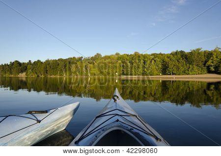 Two Kayaks On Charleston Lake