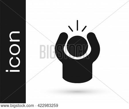 Black Anger Icon Isolated On White Background. Anger, Rage, Screaming Concept. Vector
