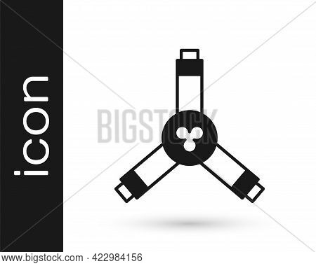Black Skateboard Y-tool Icon Isolated On White Background. Vector