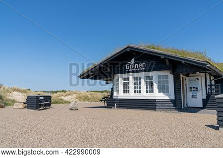 Tourist Information Building In Grenen At The Northern Tip Of Denmark