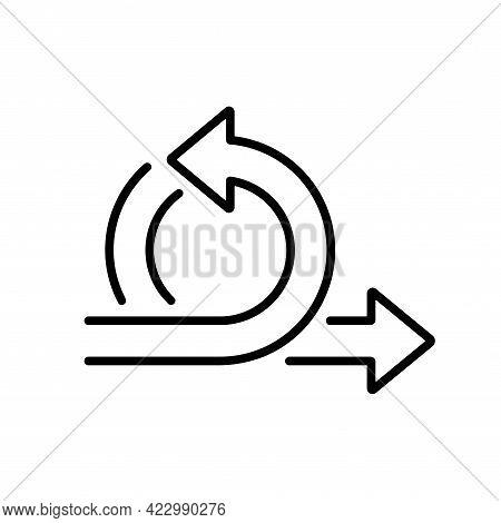 Agile Methodology Flexible Work Process Arrow Icon. Business Development Logo. Vector Isolated Line