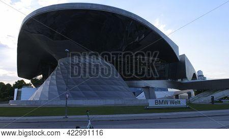 Bmw World Building At Bmw Headquarter Munich - City Of Munich, Germany - June 03, 2021
