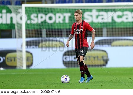 Milano, Italy. 16 May  2021. Simon Kjaer Of Ac Milan  During The Serie A Match Between Ac Milan And