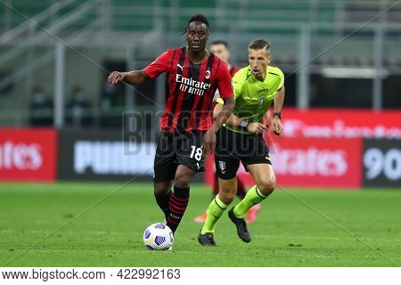 Milano, Italy. 16 May  2021. Soualiho Meite Of Ac Milan  During The Serie A Match Between Ac Milan A