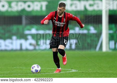 Milano, Italy. 16 May  2021. Ante Rebic Of Ac Milan  During The Serie A Match Between Ac Milan And C