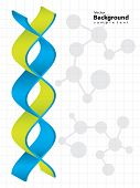 DNA strand with special design - medical background poster