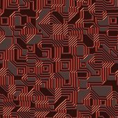 Seamless. Printed circuit texture close up. Good for replicate poster