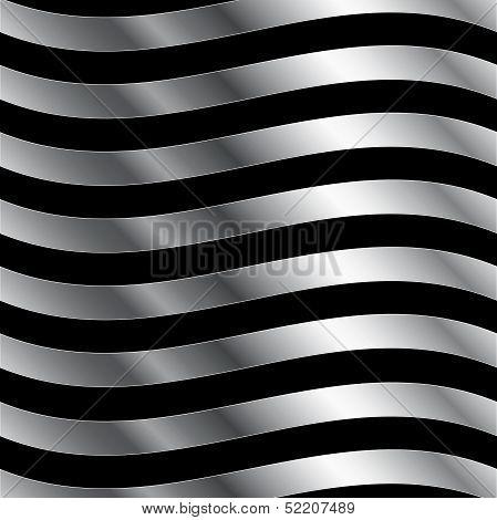 Metallic wave background