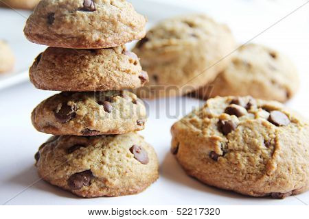 Guilt Free Chocolate Chip Cookie Stack