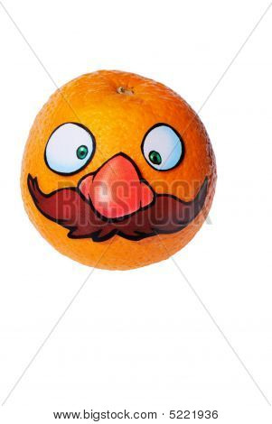 orange Ancle Mario from series funny fruits poster