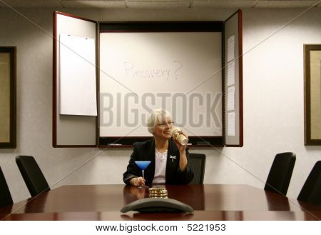 Woman In Boardroom Recovery