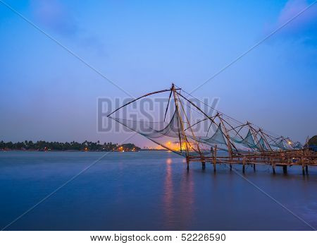 Kochi chinese fishnets in twilight