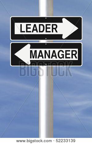 Leader or Manager
