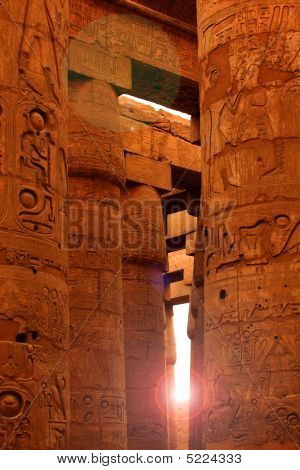Sunlight Shining In Karnak