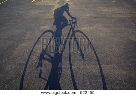 Bicycle Rider Shadow